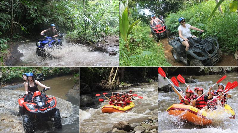 Bali ATV Ride + rafting tour
